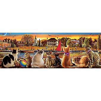 Educa Cats On The Quay Panorama Jigsaw Puzzle (1000 Pieces)