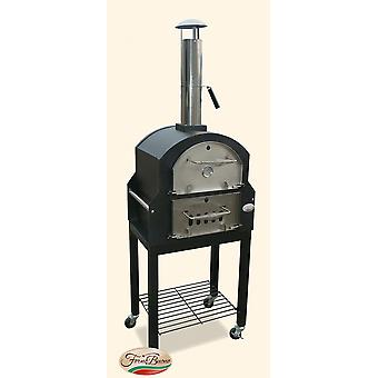 FORNO BUONO Amalfi outdoor wood-fired / charcoal fired Pizza Oven, Bread Oven Smoker & BBQ