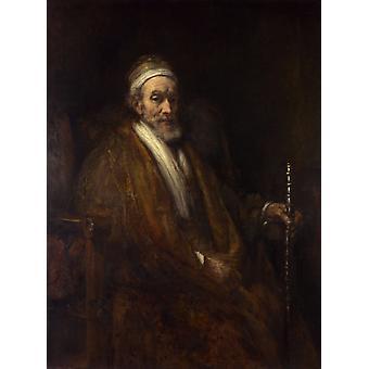 Portrett av Jacob Trip, Rembrandt, 50x37cm