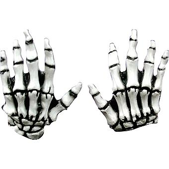 Junior Skeleton White Latex Hands For Adults