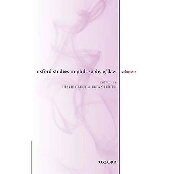 Estudios de Oxford en filosofía del derecho volumen 2 por verde y Leslie