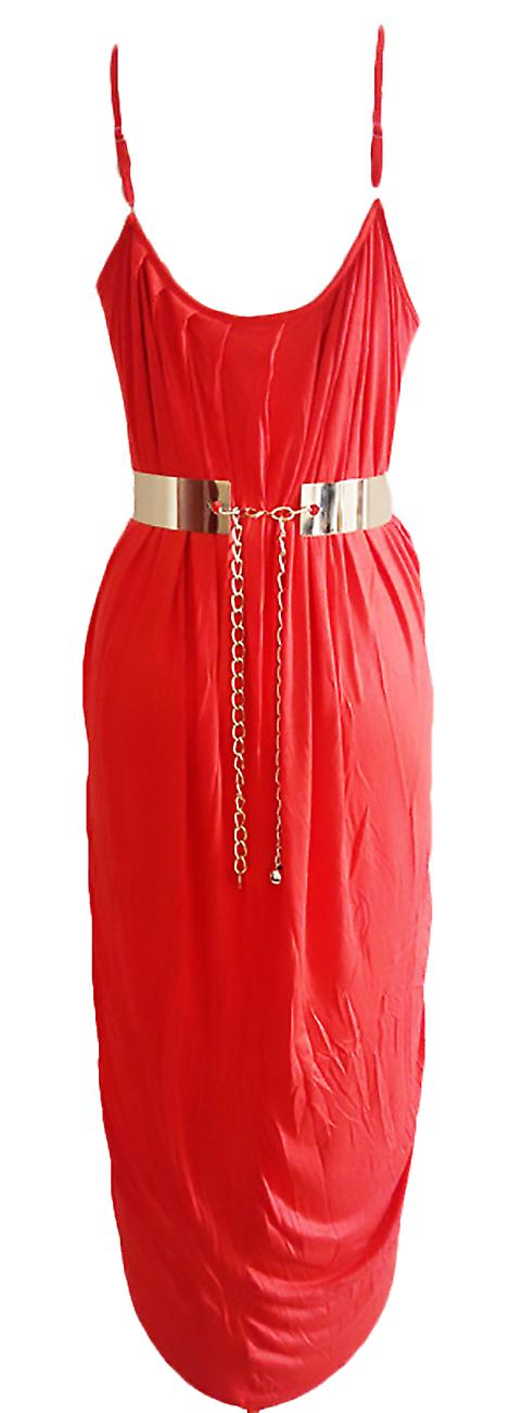Long dress sleeveless ruffled and cross Codo