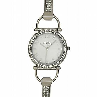 Henley Glamour cadran argenté D-Link Ladies Dress Watch H07073.1