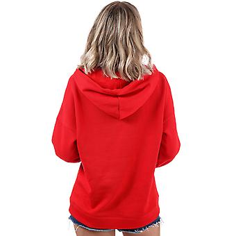 Womens Only Hailey Hoody In Flame Scarlet
