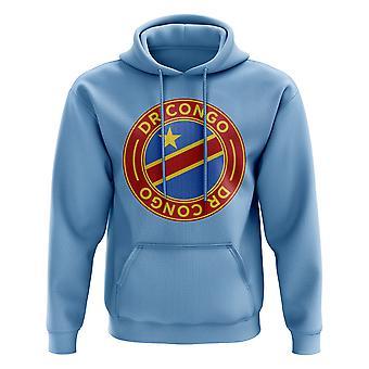 DR Congo fútbol insignia sudadera con capucha (Sky)