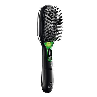 Braun BR710 Satin Iontec Frizz Fighting Battery Powered Hair Brush - Black