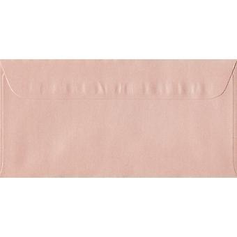 Peach Peel/Seal DL Coloured Orange Envelopes. 100gsm Swiss Premium FSC Paper. 114mm x 224mm. Wallet Style Envelope.