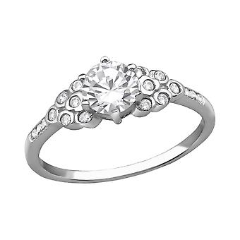Sparkling - 925 Sterling Silver Jewelled Rings - W38521X