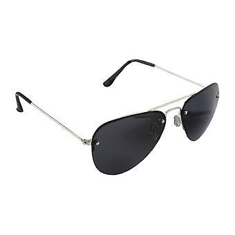 Sunglasses pilot polarizing Glass silver black FREE BrillenkokerS312_7