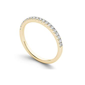 IGI Certified Solid 14k Yellow Gold 1/4 Ct TDW Diamond Women's Band