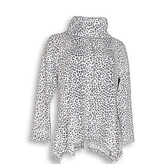 Carole hochman vrouwen ' s sleepshirt wafel fleece nieuwigheid print grijs A311258