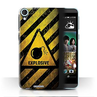 STUFF4 Case/Cover for HTC Desire 820q Dual/Explosive/Hazard Warning Signs