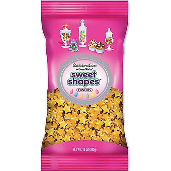Celebrations By Sweetworks Candy Sweet Shapes(TM) 12oz Bag-Shimmer (TM) Gold Stars SCSS12-54708