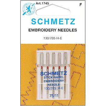 Embroidery Machine Needles Size 11 75 5 Pkg 1745