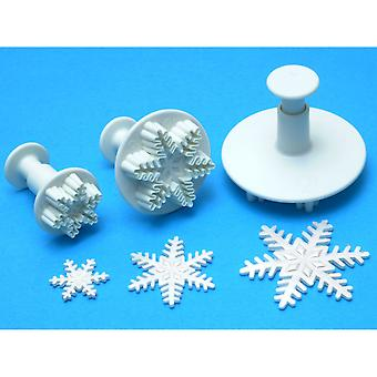 Plunger Cutter Set 3 Pieces Snowflake Sf708