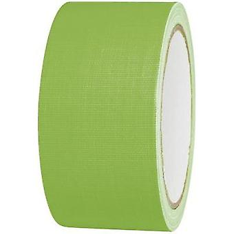 Cloth tape TOOLCRAFT 80FL5025GC Neon green (L x W) 25 m x 50 mm Hot glue (HMA) Content: 1 Rolls