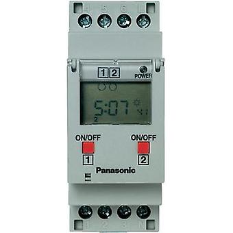 Digital 2 channel timer TB6220187 Panasonic TB6220187 220 - 240 Vac DPDT-CO 16 A 250 Vac (Ohmic load) 16 A / (Inductive