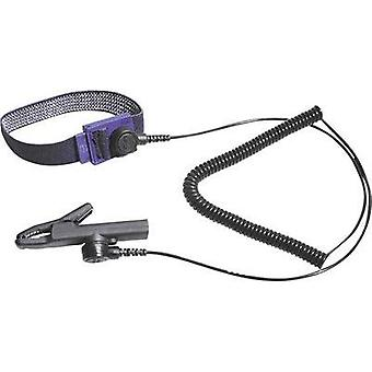 ESD wrist strap Black incl. PG cable Bernstein 3