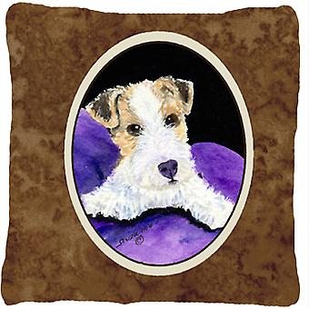 Fox Terrier Decorative   Canvas Fabric Pillow