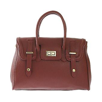 CTM Womens handbag entirely made of soft Italian leather