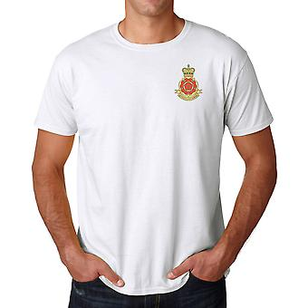 The Queens Lancashire Regiment Embroidered Logo - Official British Army Cotton T Shirt