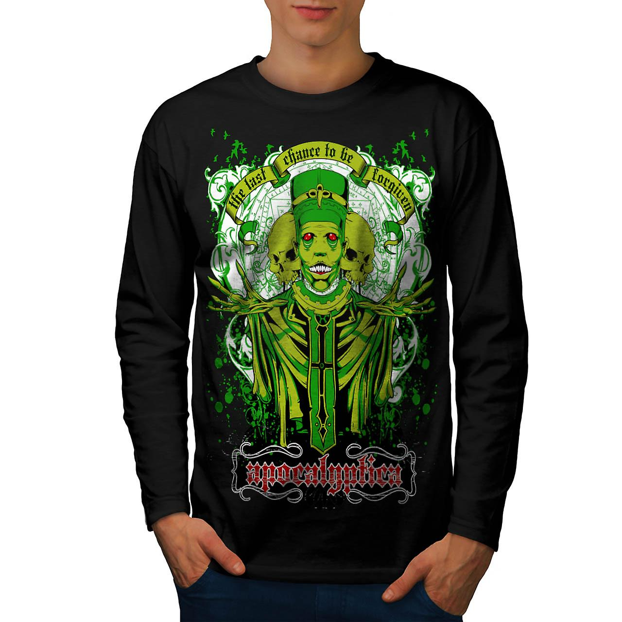 Forgiven Apocalypse Evil Belief Men Black Long Sleeve T-shirt | Wellcoda