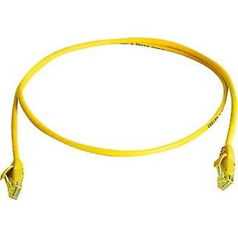 RJ49 Networks Cable CAT 6 U/UTP 0.5 m Yellow Flame-retardant, Halogen-free Telegärtner
