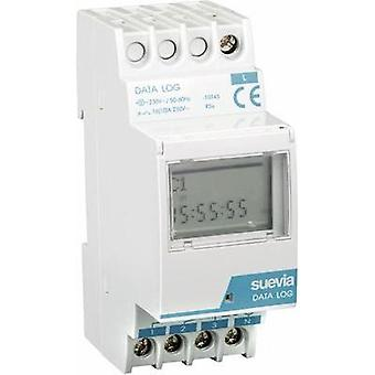 DIN rail mount timer digital Suevia Data Log I 230 Vac 16 A/250 V