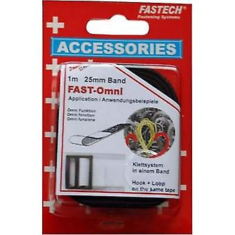 Hook-and-loop tape for bundling Hook and loop pad (L x W) 1 m x 25 mm Black Fastech 1 m