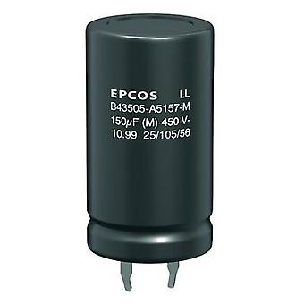 Electrolytic capacitor Snap-in 10 mm 100 µF 20 % (Ø x H) 22 mm x 35 mm Epcos B43504-A9107-M 1 pc(s)