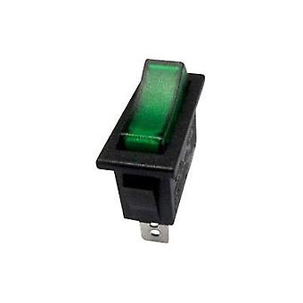 Toggle switch 250 Vac 10 A 1 x Off/On SCI R13-91B-01 GREEN (250V/AC 150KR) latch 1 pc(s)