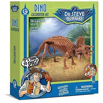 Geoworld Excavation Kit Dino - Triceratops Skeleton
