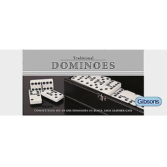 Gibsons Traditional Dominoes Double 6 Set