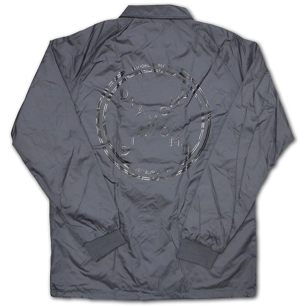 Diamond Supply Co kreuzten sich Coach Jacke grau