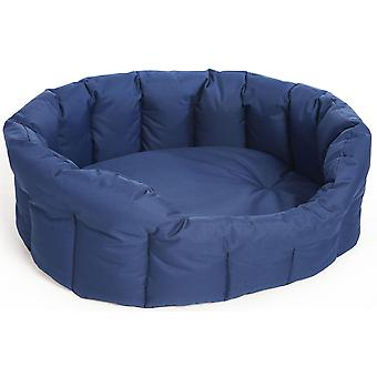 Country Dog Heavy Duty Waterproof Oval Drop Front Softee Bed Blue Size 5 76x64x24cm