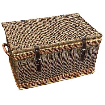 53cm Double Steamed Green Willow Cromford Storage Basket