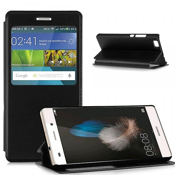 Booktasche window black for Huawei Ascend P8 Lite