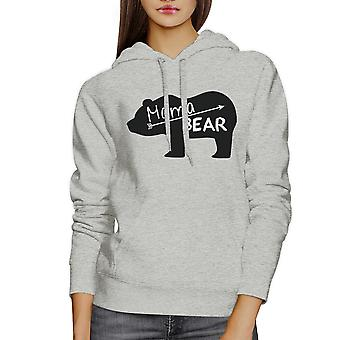 Mama Bear Unisex Gray Cute Hoodie Unique Gift Ideas For New Moms