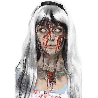 Make up set zombie dead Red Black Green grey 4 colors with spatula