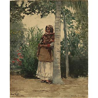 Winslow Homer - Under a Palm Tree Poster Print Giclee