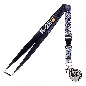 Star Wars Star Wars K-2S Rebel Spy Enforcer Droid Lanyard With Charm And ID Sleeve