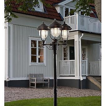 Konstsmide Parma sort indkørsel 3 lanterne udendørs Pole lys