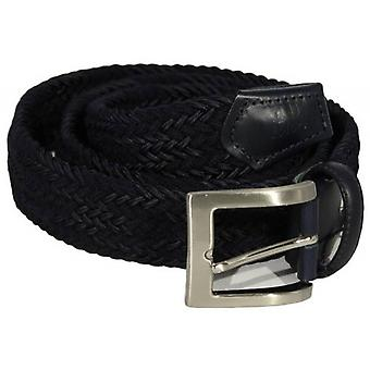40 Colori Double Threaded Elasticated Belt - Navy