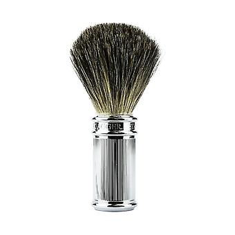 Edwin Jagger 81SB89L11 Lined Chrome Pure Badger Shaving Brush