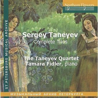Fidler / Taneyev kvartetten - Sergey Taneyev: komplet trioer [CD] USA import