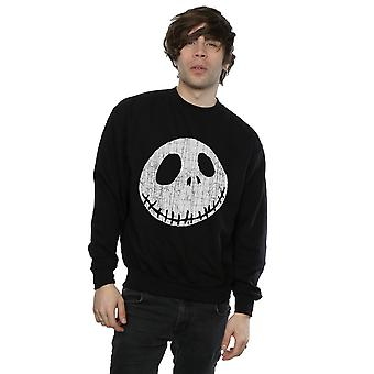 Disney Men's Nightmare Before Christmas Jack Cracked Face Sweatshirt