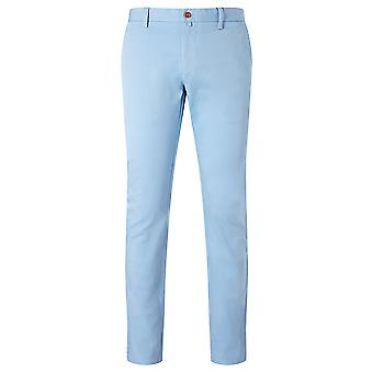 GANT Soho Clean Comfort Chino Mens Narrow Fit Low Waist Trousers - Blue