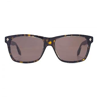 Alexander McQueen Ghost Skull Square Sunglasses In Havana