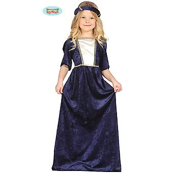 Queen medieval costume noble Lady damsel of the Castle children