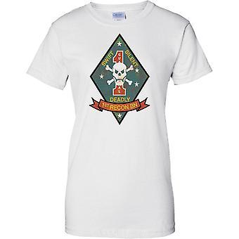 1. recon Battalion USMC - snabb tyst dödliga - militära insignier - damer T Shirt